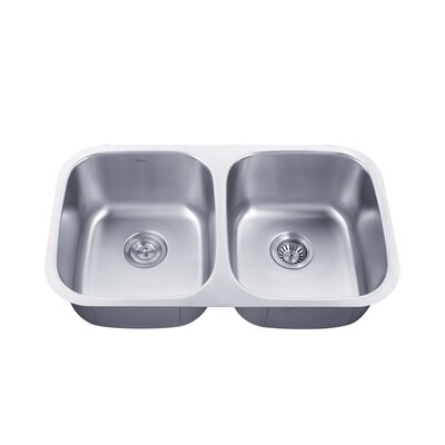 31.38 x 18 Double Basin Undermount Kitchen Sink