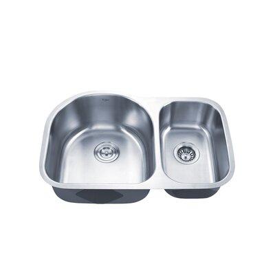 29.38 x 19.5 Double Basin Undermount Kitchen Sink