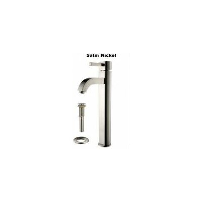 Bathroom Combos Glass Circular Vessel Bathroom Sink with Faucet Finish: Satin Nickel