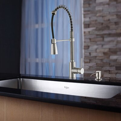 30 x 18 Undermount Kitchen Sink with Faucet and Soap Dispenser Faucet Finish: Stainless Steel