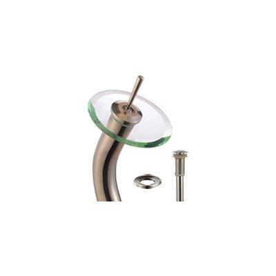 Ares Circular Vessel Bathroom Sink Faucet Finish: Satin Nickel