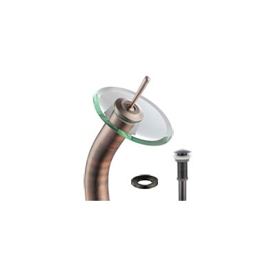 Copper Circular Vessel Bathroom Sink with Overflow Faucet Finish: Oil Rubbed Bronze