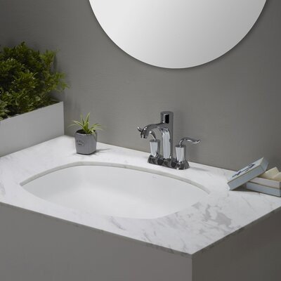 Elavo� Flared Rectangular Undermount Bathroom Sink with Overflow