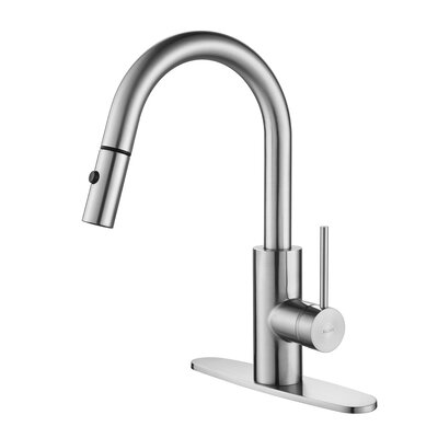 Oletto� Single Handle Pull Down Standard Kitchen Faucet Finish: Chrome