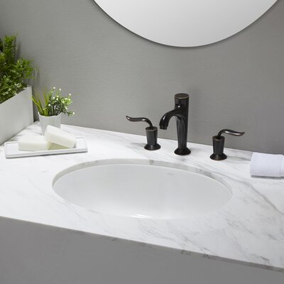 Elavo� Oval Undermount Bathroom Sink with Overflow