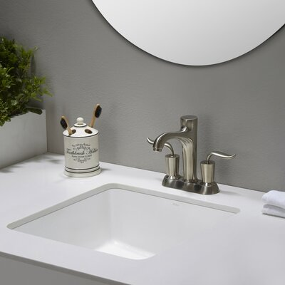 Elavo� Square Undermount Bathroom Sink with Overflow