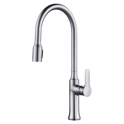 Nola Single Handle Pull Down Kitchen Faucet with Dual Function Sprayer Finish: Chrome