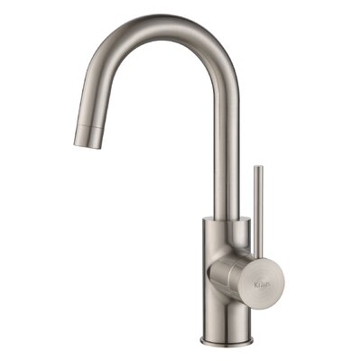 Oletto Single Handle Pull Down Kitchen Faucet with Soap Dispenser Faucet Finish: Stainless Steel