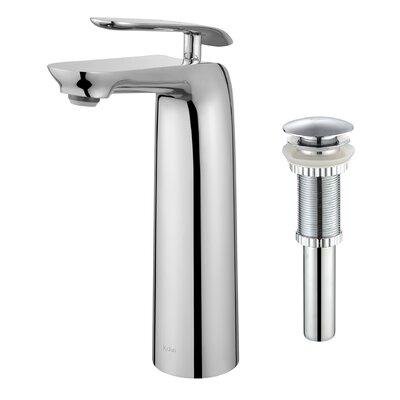 Seda Single Hole Single Handle Bathroom Faucet with Pop-Up Drain Finish: Chrome