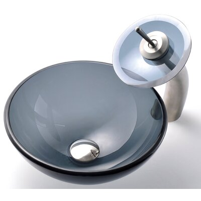 Circular Vessel Bathroom Sink Faucet Finish: Satin Nickel