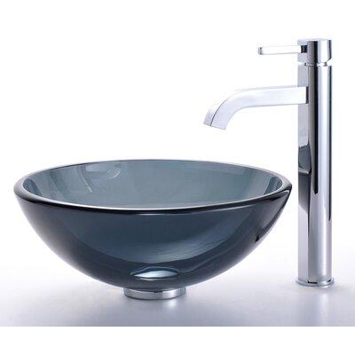 Circular Vessel Bathroom Sink Finish: Chrome