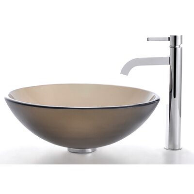 Bathroom Combos Circular Vessel Bathroom Sink Faucet Finish: Chrome