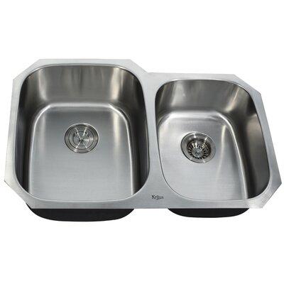 32 x 20.63 Double Basin Undermount Kitchen Sink
