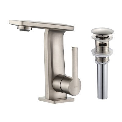 Novus Single Hole Single Handle Bathroom Faucet with Pop-Up Drain Finish: Brushed Nickel