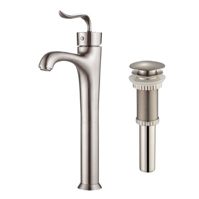 Coda� Single Hole Single Handle Bathroom Faucet with Pop-Up Drain Finish: Brushed Nickel