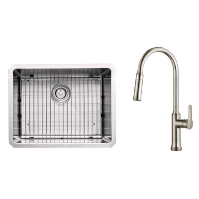Kitchen Combos 23 x 18 Undermount Kitchen Sink with Kitchen Faucet/Soap Dispenser Faucet Finish: Stainless Steel
