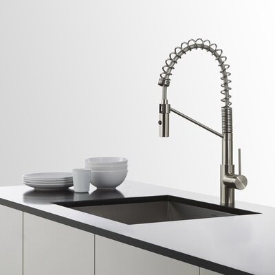 31.5 x 18.5 Undermount Kitchen Sink with Bar Faucet Finish: Stainless Steel