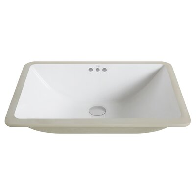 Elavo� Rectangular Undermount Bathroom Sink with Overflow