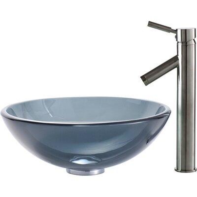 Circular Vessel Bathroom Sink Finish: Satin Nickel