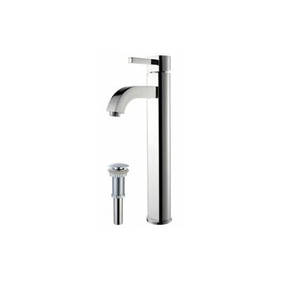 Ramus Single Hole Single Handle Bathroom Faucet with Drain Assembly Finish: Chrome