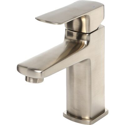Virtus Single Handle Bathroom Faucet Finish: Brushed Nickel, Optional Accessory: Without Pop Up Drain