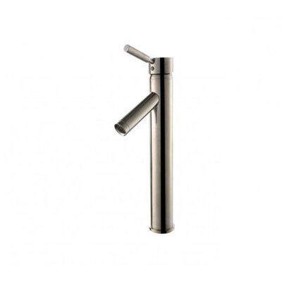 Vessel Mixer Single Hole Lever Bathroom Faucet Finish: Satin Nickel