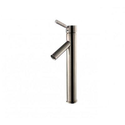 Vessel Mixer Single Hole Lever Bathroom Faucet Finish: Satin Nickel