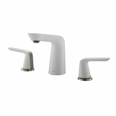 Seda Widespread Double Handle Bathroom Faucet Finish: Brushed Nickel/White
