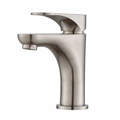 Aquila Single Hole Single Handle Bathroom Faucet Finish: Brushed Nickel