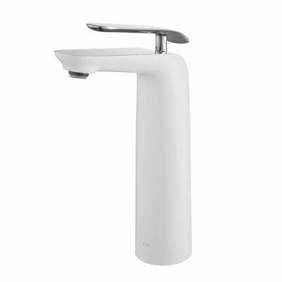 Seda Single Hole Single Handle Bathroom Faucet Finish: Chrome/White