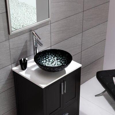 Kratos Glass Circular Vessel Bathroom Sink