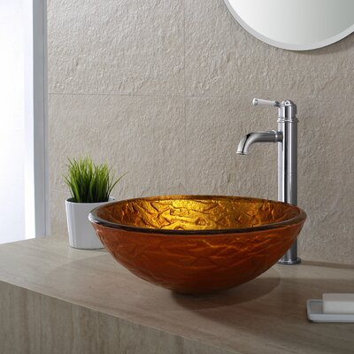 Blaze Glass Circular Vessel Bathroom Sink