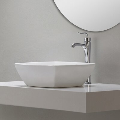 Elavo� Square Vessel Bathroom Sink