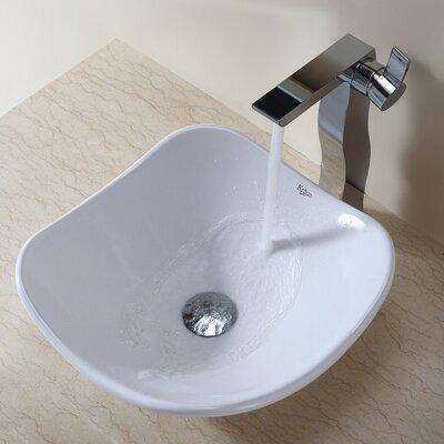 Ceramic Ceramic Circular Vessel Bathroom Sink Drain Finish: Chrome
