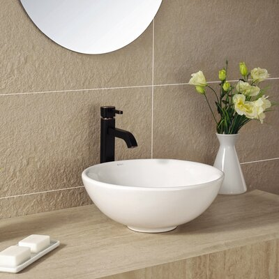 Ceramic Ceramic Circular Vessel Bathroom Sink Drain Finish: Oil Rubbed Bronze