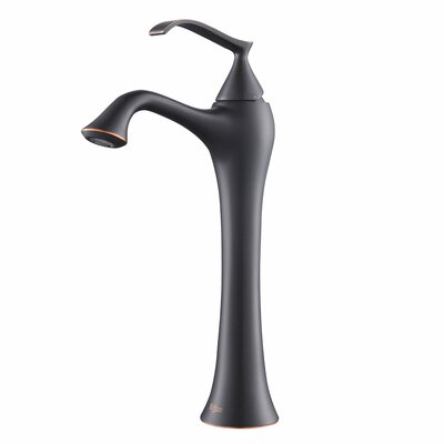 Ventus Single Hole Single Handle Bathroom Faucet with Drain Assembly Optional Accessory: Without Pop Up Drain, Finish: Oil Rubbed Bronze