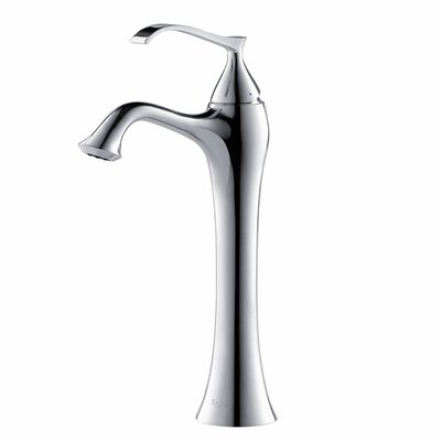 Exquisite Single Hole Single Handle Bathroom Faucet with Optional Pop Up Drain Optional Accessories: Without Pop Up Drain, Finish: Chrome