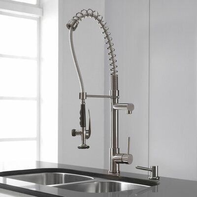 Single Handle Kitchen Faucet Finish: Stainless Steel