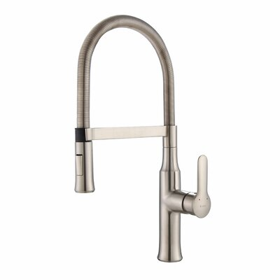 Nola� Single Handle Pull Down Instant Hot & Cold Dispenser Finish: Stainless Steel