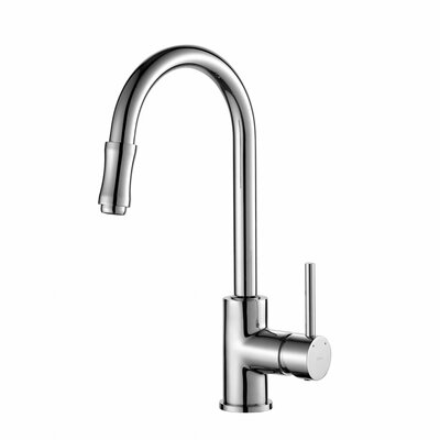 Premium Faucets Pull Down Single Handle Kitchen Faucet Finish: Chrome