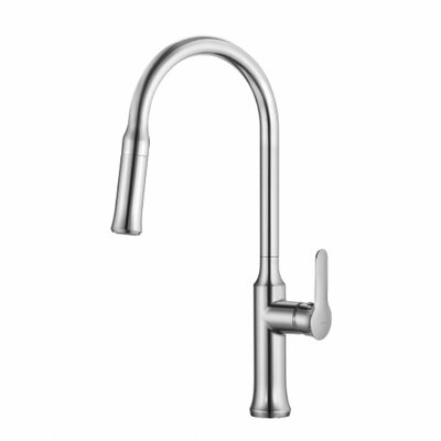 Nola� Single Handle Deck Mount Pull Down Kitchen Faucet Finish: Chrome