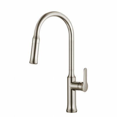 Nola� Single Handle Deck Mount Pull Down Kitchen Faucet Finish: Stainless Steel