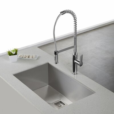 Nola Pull Down Single Handle Kitchen Faucet Finish: Chrome