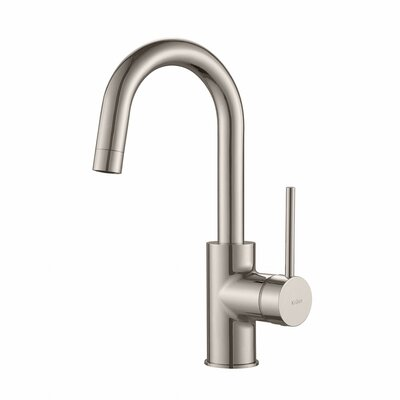Oletto� Single Handle Pull Down Bar Faucet Finish: Stainless Steel