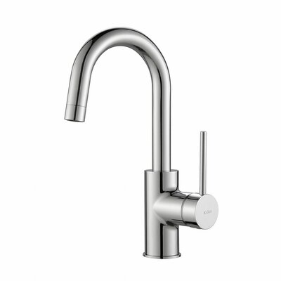 Oletto� Single Handle Pull Down Bar Faucet Finish: Chrome