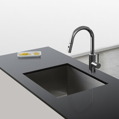 Oletto Pull Down Single Handle Kitchen Faucet Finish: Chrome