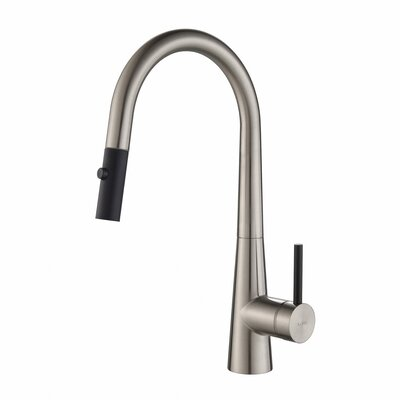 Crespo� Single Handle Pull Down Kitchen Faucet Finish: Stainless Steel