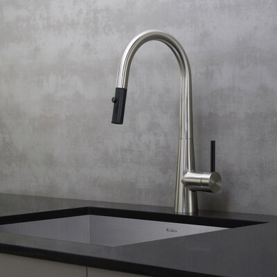 Crespo Pull Down Single Handle Kitchen Faucet Finish: Stainless Steel