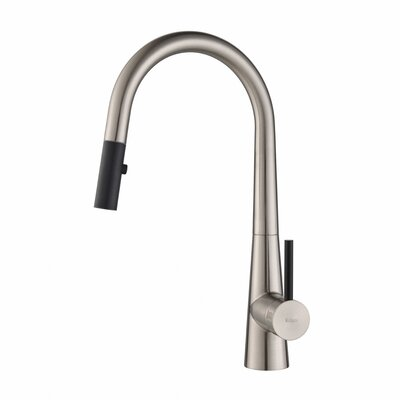 Crespo Single Handle Pull Down Kitchen Faucet Finish: Stainless Steel