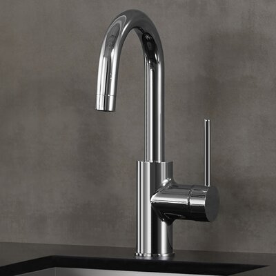 Oletto Single Handle Pull Down Bar Faucet Finish: Chrome